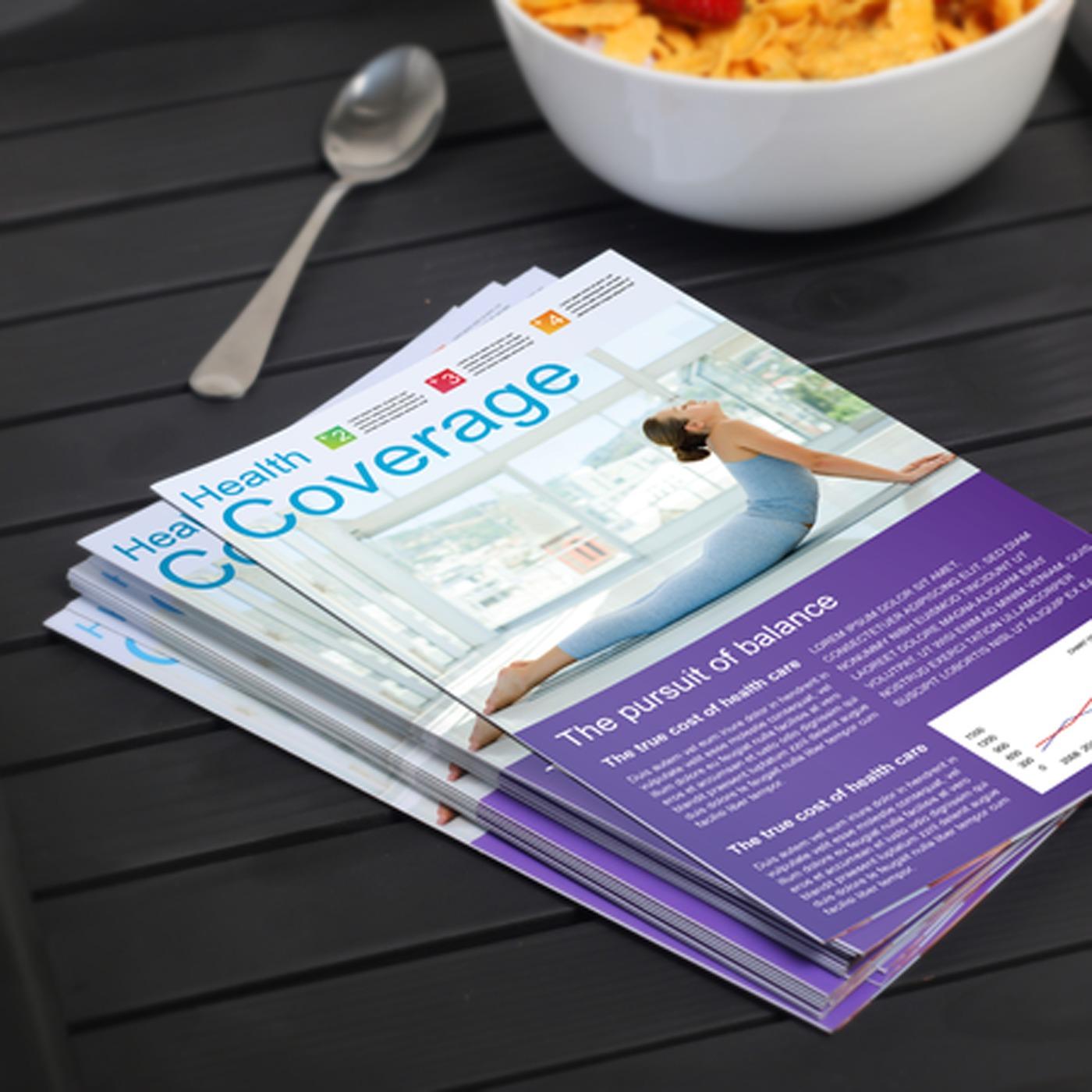 Custom Bi-Fold Brochure Printing - Half Fold Brochures